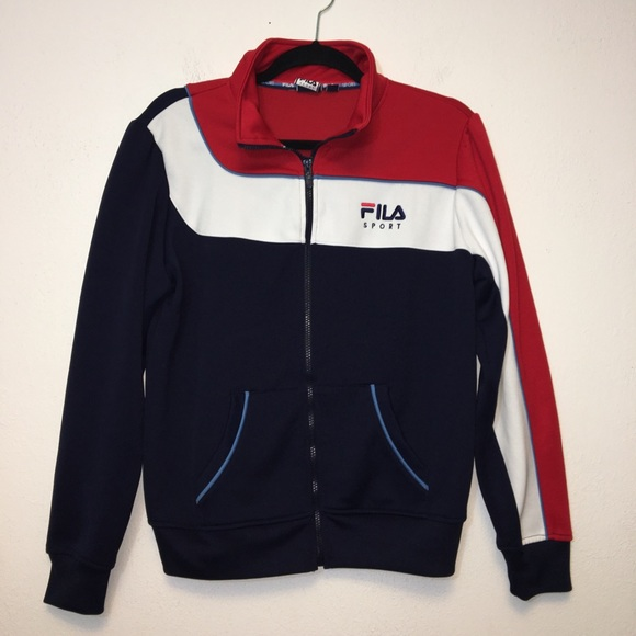 Fila Sport Blue Red White Full Zip Track Jacket